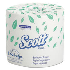 Scott - Standard Roll Bathroom Tissue, 2-Ply, 550 Sheets/Roll -  20 Rolls/Carton