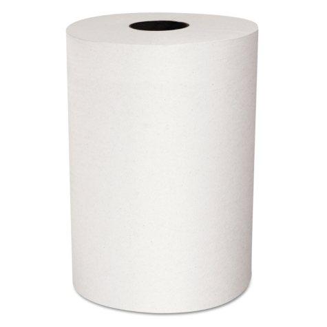 """Scott - Slimroll Hard Roll Towels, 8"""" x 580ft, White, Roll -  6 Rolls/Carton"""