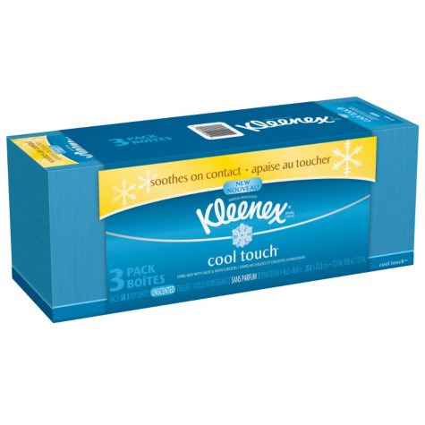 Kleenex Cool Touch Tissues - 3 boxes - 50 ct. each