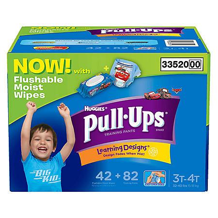 PULLUPS BOY LG 3T-4T W/ WIPE