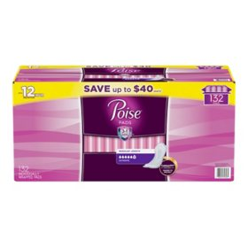 Poise Incontinence & Postpartum Pads, Ultimate Absorbency, Regular (132 ct.)