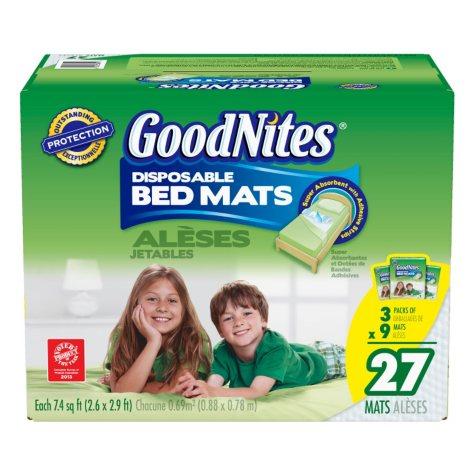 D - GoodNites Disposable Bed Mats - 27 pk.