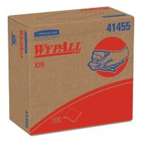 """WypAll X70 Heavy-Duty White Wipers in Pop-Up Box, 9.1"""" x 16.8"""" (100 wipes/box, 10 boxes/case)"""