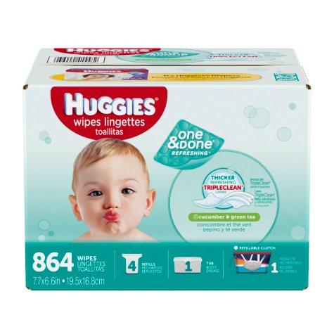 Huggies One & Done Refreshing Baby Wipes (864 ct.)