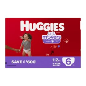 Huggies Little Movers Diapers (Size 6, 112 ct.)