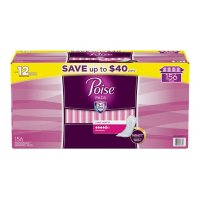 Poise Incontinence & Postpartum Pads, Maximum Absorbency, Long (156 ct.)