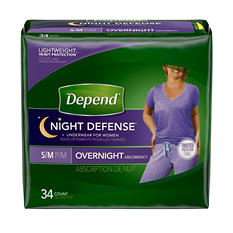 Depend Night Defense Underwear for Women (Choose Your Size)