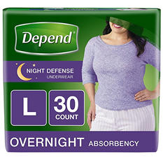Depend Night Defense Underwear for Women (Choose Your Size)