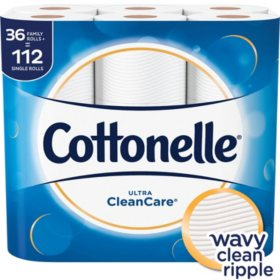 Cottonelle Ultra Clean Care Toilet Paper (36 Family Rolls)