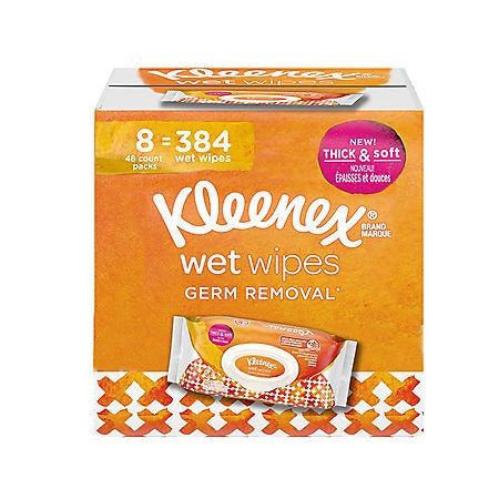 Kleenex Germ Removal Wet Wipes Flip-Top (48 ct., 8 pk.)