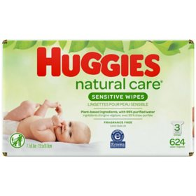 Huggies Natural Care Sensitive Baby Wipe Refill, Fragrance Free (624 ct.)