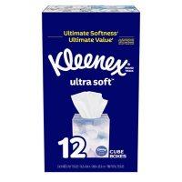 Kleenex Ultra Soft Facial Tissues Cube Boxes (65 tissues per pk., 12 pk.)