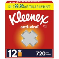Kleenex Anti-Viral 3-Ply Facial Tissue - Cube boxes (60 tissues, 12 pk.)