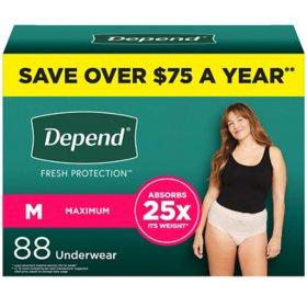Depend Fit-Flex Incontinence & Postpartum Underwear for Women (Choose Your Size)