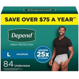 Depend Fit-Flex Underwear for Men (Choose Your Size)