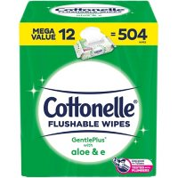 Cottonelle GentlePlus Flushable Wipes with Aloe and Vitamin E (504 ct.)