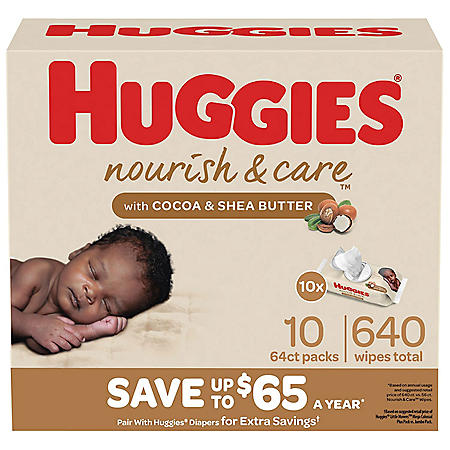 Huggies Nourish & Care Scented Baby Wipes (640 ct.)