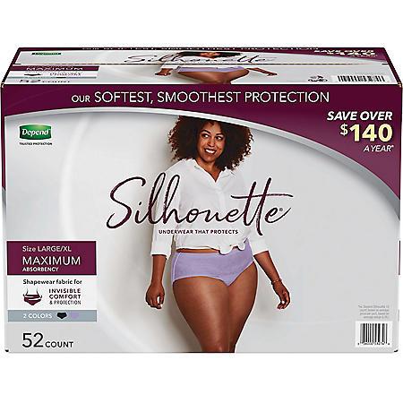 Depend Silhouette Incontinence & Postpartum Underwear for Women, Maximum Absorbency