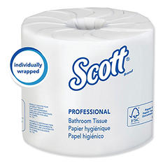 Scott - 100% Recycled Fiber Bathroom Tissue, 2-Ply, 506 Sheets/Roll -  80/Carton