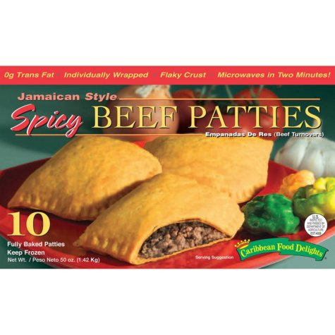 Caribbean Food Jamaican Style Spicy Beef (10 flaky turnovers)