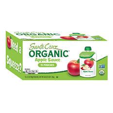 Santa Cruz Organic Apple Sauce Pouches (15 ct., 3.2 oz. ea.)