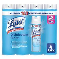 Lysol Disinfectant Spray, Crisp Linen Scent (19 oz., 4 pk.)