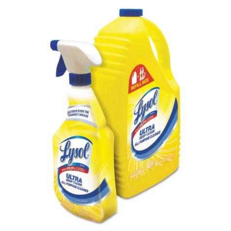 Lysol Ultra Deep Clean All-Purpose Cleaner, Lemon Breeze Scent (32oz.Bottle plus144oz.Refill Bottle)