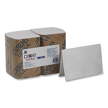 """Dixie Ultra Interfold Napkin Refills, 2 Ply, 6 1/2"""" x 9 7/8"""", White (3000 ct.)"""