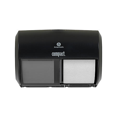 Compact 2-Roll Side-by-Side Coreless Toilet Paper Dispenser (56784A)
