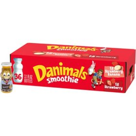Dannon Danimals Smoothies Strawberry Variety Pack (36 ct.)
