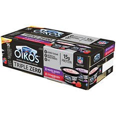 Dannon Oikos Triple Zero Blended Greek Nonfat Yogurt Variety Pack (5.3 oz., 16 ct.)