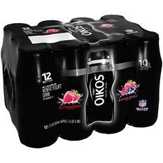 Dannon Oikos Strawberry Flavor/Mixed Berry Nonfat Yogurt Drink (7 fl. oz., 12 ct.)