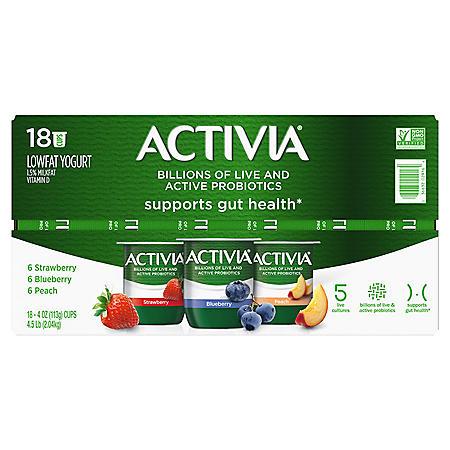 Activia Probiotic Yogurt, Variety Pack (4 oz., 18 pk.)