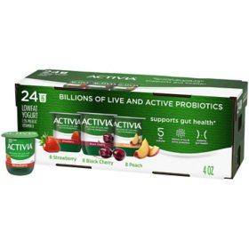Activia Probiotic Lowfat Yogurt, Variety Pack (24 ct.)