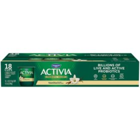 Activia Probiotic Yogurt, Vanilla (18 pk.)