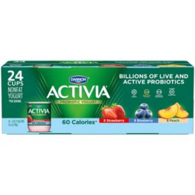 Activia Probiotic Light Yogurt Variety Pack (24 pk., 4 oz. cups)