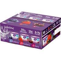 Light + Fit Greek Yogurt Variety Pack (5.3 oz. cups, 18 ct.)