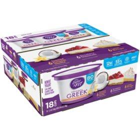Dannon Light & Fit Greek Blended Nonfat Yogurt Variety Pack (5.3 oz., 18 ct.)