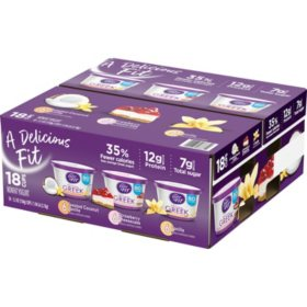 Dannon Light and Fit Greek Nonfat Yogurt Variety Pack (5.3 oz., 18 pk.)