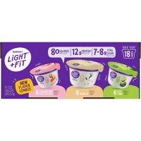Light & Fit Greek Yogurt Variety Pack (5.3 oz. cups, 18 ct.)