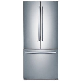 SAMSUNG 22 Cu. Ft. 3-Door French Door Refrigerator, Stainless Steel - RF220NCTASR