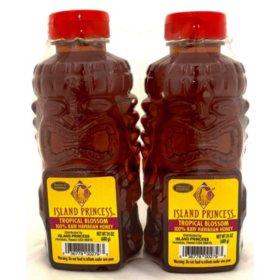 Island Princess 100% Raw Hawaiian Honey, Tropical Blossom (24 oz., 2 pk.)