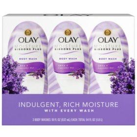 Olay Moisture Ribbons Plus Shea + Lavender Oil Body Wash (18 fl. oz., 3pk.)