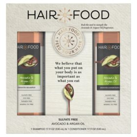 Hair Food Avocado & Argan Oil Sulfate Free Shampoo and Conditioner (17.9 fl.,oz. 2pk)