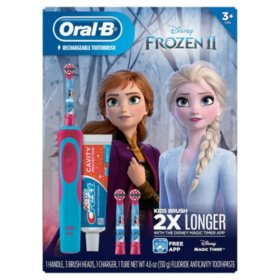 Oral-B Kid's Disney Frozen 2 Electric Toothbrush and Crest Sparkle Fun Toothpaste