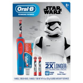 Oral-B Kid's Star Wars Electric Toothbrush and Crest Sparkle Fun Toothpaste