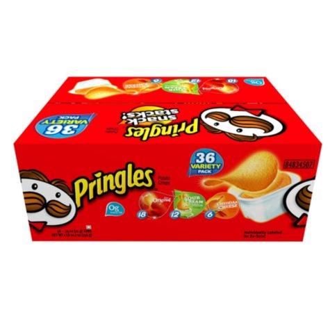 Pringles Original Potato Chips Singles - 36 pk.