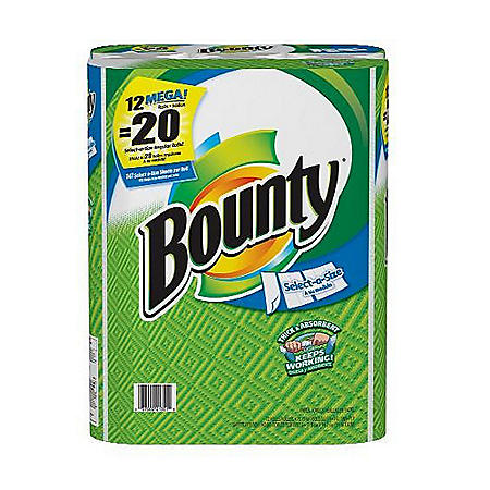 Bounty Select-A-Size Mega Rolls - White/12ct