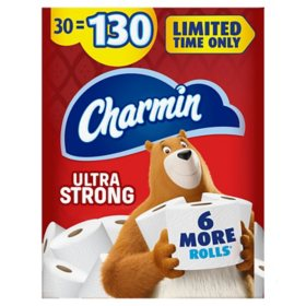 Charmin Ultra Strong Toilet Paper, Giant Mega Roll Bath Tissue (286 sheets/roll, 30 rolls)