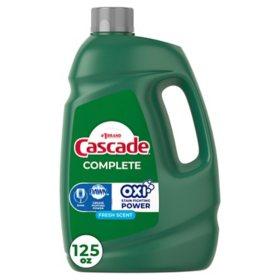 Cascade Complete Gel + Oxi, Dishwasher Detergent (125 oz.)